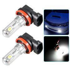 2X 50W Super Bright 6000K Xenon White H11 H9 H8 Type 2LED Bulb  Fog Light Lamp