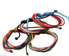 Lot 12pcs Fashion Handmade Colorful Hemp Rope Adjustable Size Bracelets For Gift