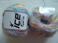 Ice Yarns Mohair blend yarn, Rainbow, lot of 2 (163 yds ea)