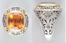 Konstantino silver,18 Karat Y gold and citrine ring