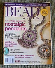 BEAD & BUTTON MAGAZINE October 2007 - Issue 81 NEW Chain Necklace, Polymer Clay