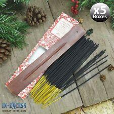 5 x boîtes de 60 encens bâtons d'encens en bois et détenteurs sucrée baies (300 bâtons)