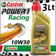 3L OLIO MOTORE CASTROL POWER 1 RACING 10W30 100% SINTETICO TRIZONE MOTO JASO MA2