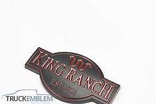 1 NEW MATTE BLACK Ford F250 F350 F450 King Ranch nameplates emblems Badges