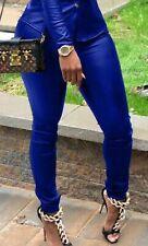 Unisex Leather Pants High Quality Elegant & Sexy Black Blue Pink S L XL 2XL 3XL