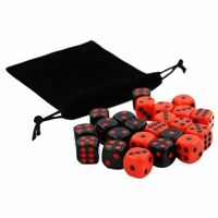 24pcs/set 16mm Dice Round Corner Point Dice RPG Gambling Games Cube Party R