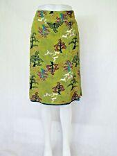 WHITE STUFF green & blue reversible Aline skirt size 10