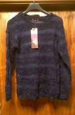 WOMENS_BRAVE SOUL_JUMPER_girls_ladies_size 14 navy blue_cardigan sweater top