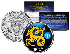 ARIES Horoscope Astrology Zodiac JFK Kennedy US Colorized Half Dollar Coin