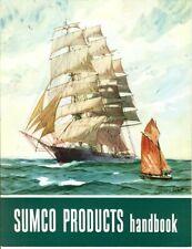 Vintage 1948 SUMCO Products Handbook! GORDON GRANT Sailboat Cover!
