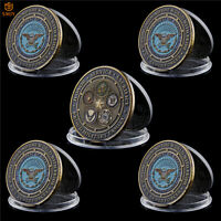 5Pcs US Army Navy USMC USAF USCG Service Worldwide Proud Military Family Coins