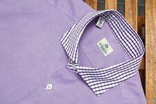 430$ Borrelli shirt Pure Cotton Lilac Size 42 Luxury