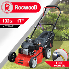 More details for petrol lawnmower self propelled rocwood 132cc 17