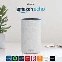 New Amazon Echo Smart Alexa Speaker (2nd generation) - Sandstone Fabric !!!