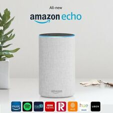 New Amazon Echo Smart Alexa Speaker (2nd generation) - Sandstone Fabric !!!