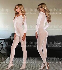 Bodystocking Dessous Sexy Overall Strumpfhose Bodysuit Catsuit Netz Reizwäsche
