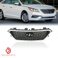 Fits Hyundai Sonata 2015-2017 Front Upper Grille Chrome Honeycomb W/O Radar Hole