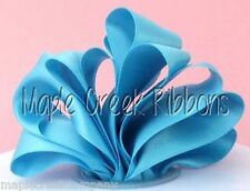 "2yd of Turquoise 1.5"" Double Face Satin Ribbon 1.5"" x 2 yards neatly wound"
