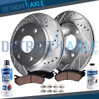 Front Drilled Rotors + Brake Pads for Chevy Tahoe Silverado GMC Sierra 1500 XTS
