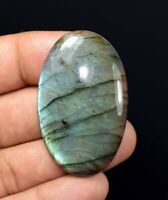 82.75 Cts. 100 % Natural Blue Fire Labradorite Oval Cabochon Loose Gemstone