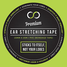 Premium Ear Stretching Tape Wrap Taping Method Stretcher Tunnel Plug Gauging