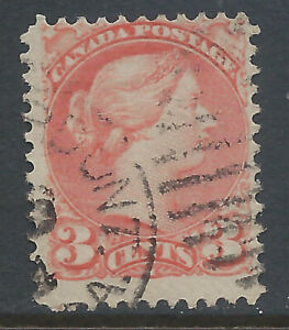 Canada #41(11) 1888 3 cent vermilion QUEEN VICTORIA DUPLEX Cancel