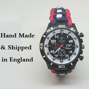 Paracord Watch with The Royal Corp of Transport (CROT) Colours a Great Gift