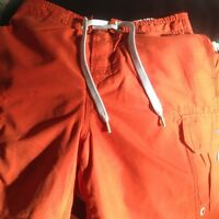 abercrombie & fitch orange shorts