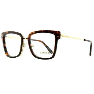 Tom Ford FT5507 054 Havana brown Square Full Rim Women Optical Frames Eyeglasses