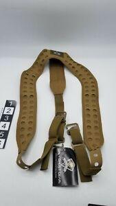 Grey Ghost Gear 9036-14 UGF Battle Mens 3-Point Coyote Brown Tactical Suspenders