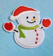 Christmas Snowman Iron on /Sew on patch/Applique - Xmas Jumper Decoration
