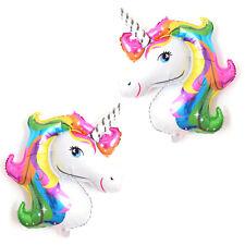 Hot 2PCS Unicorn Rainbow Foil Helium Balloon Children Birthday Party Decor
