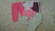 2 Jogginganzüge + Hose Gr. 104 lila & rosa/grau Pullover + rosa Jogginghose