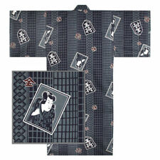 "Japanese Kimono Yukata Sash Belt Robe Men 61"" Cotton SHOGI Chess Made in Japan"