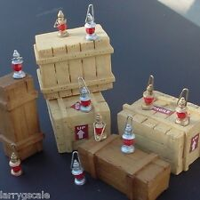 Ten Red Globe Lantern Custom Miniatures (10) 1/24 Scale G Scale Diorama Items