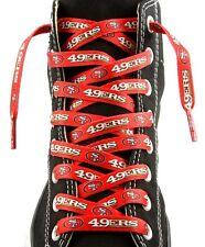"""San Francisco 49ers Team Logo Colors 54"""" Shoe Laces One Pair Lace Ups NFL"""