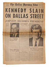 JFK John F. Kennedy Assassination BEST Dallas Newspaper