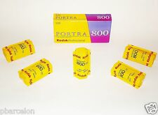 5 x Rolls  KODAK  PORTRA  800 Colour  Neg--120--MED FORMAT Size--expiry: 05/2020