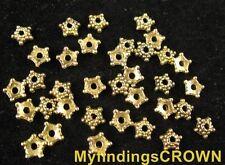 700 pcs Antiqued gold beaded star bead caps FC1227