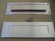 LETTER SLOT LETTERBOX STAINLESS STEEL NEW MAILBOX MAIL DOOR FRONT AND REAR FLAP