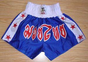 Mauy Thai Kick Boxing Shorts Color Blue