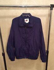 Nike Men's Windbreaker Jacket White Label Navy Blue Sz Large 920220 KL4