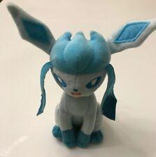 "Pokemon Eeveelution Glaceon Plush blue * Tomy 2017  stuffed animal 8"""