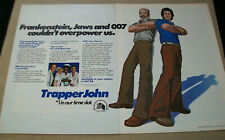 Pernell Roberts Gregory Harrison 1982 Ad-Trapper John /2 page Ad