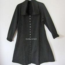 BORIS INDUSTRIES Traum! Mantelkleid Kleid Lagenlook Druckknöpfe schwarz 48 (5)
