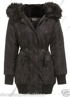 NEW PARKA Womens MILITARY Ladies JACKET COAT Shower Proof  Size 8 10 12 14 16