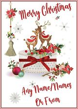 PERSONALISED CHRISTMAS CARDS A5 GLOSSY FINISH