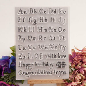 Alphabet Transparent Silicone Clear Stamps For Scrapbooking Embossing DIY Crafts