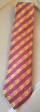 Altea Milano Men's Tie 100% Silk Pink Geometric Vibrant Multi-color Rare