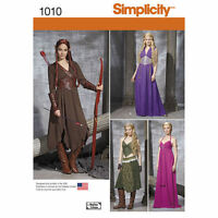 Simplicity Sewing PATTERN 1010 Elven Fantasy GOT Cosplay Dress Costumes